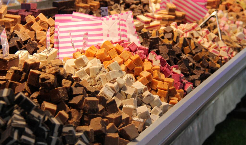 Piles of freshly made long beach island fudge